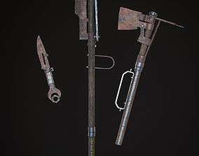 3D asset Rusted weapon pack