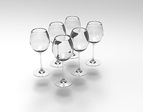 3D model realtime Champagne Glass