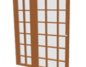 3D model Patio glass door