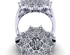 3D print model A beautiful ring looks like a flower