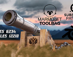 3D model Historical cannon with the coat of arms of Russia