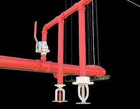 3D model fire sprinkler system