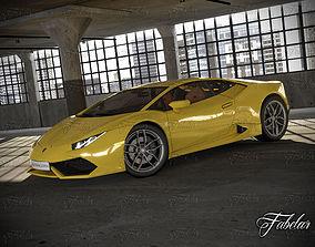 Lamborghini Huracan LP 610-4 and garage 3D model