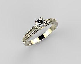 engagement diamond-ring Engagement ring 3D print model
