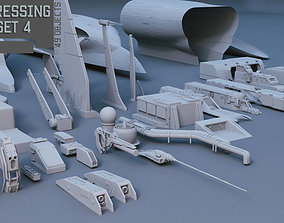 Scifi dressing kitbash set 4 3D model collection