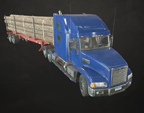Semi Truck Log Trailer 3D model