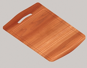 3D asset low-poly Wooden chopping board