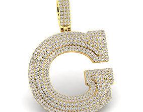 jewelry Custom 3D Initial G Letter Pendant