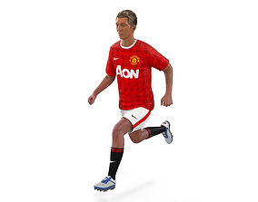 3D model Soccer Player Manchester United Rigged 2