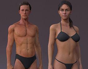 Male Female Rig 3D model