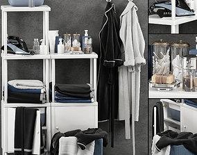 Bathroom set 3D interior