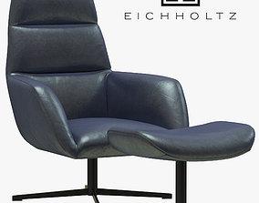 Eichholtz Swivel Chair and Ottoman Nautilus 3D model