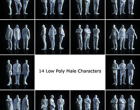14 Low Poly Male Character Collection 3D asset low-poly