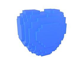Voxel Heart v1 002 3D model
