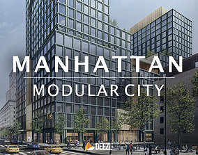 3D model Manhattan Modular City