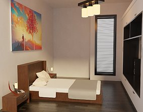 Modern Bedroom - Hotel Room 3D model