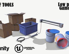 3D model Set of tools 03