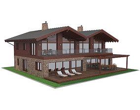 Chalet House 3 3D model