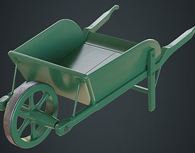 3D asset Wheelbarrow 4A