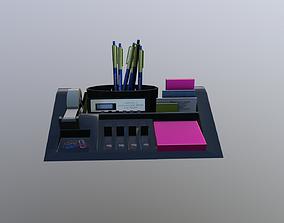 Desk organizer package 3D asset