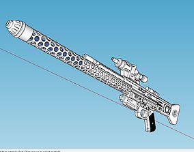 3D print model BlasTech DLT-20a Laser Rifle Blaster Star 3
