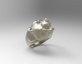 3D printable model BEAR ring