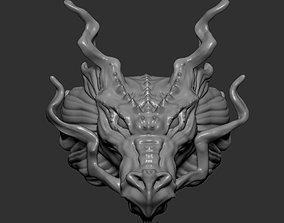 3D print model head dragon ring Chinese Zodiac