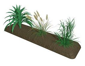 3D Grass bark