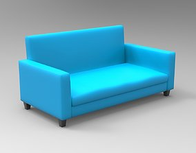 3D model furniture Simple Sofa with FFD Box Modifier