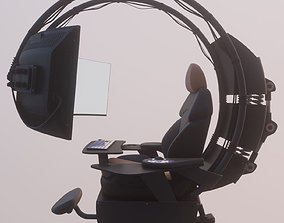 Seat with monitor 3D