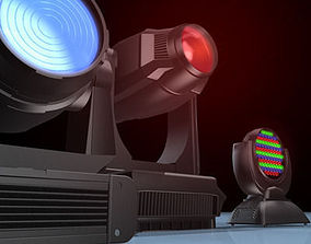 moving head collection 3D model