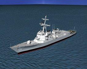 Burke Class Destroyer DDG 52 USS Barry 3D model