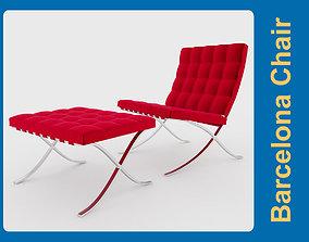 van Barcelona Chair 3D model