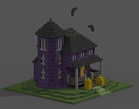 Haunted House Voxel 3D model
