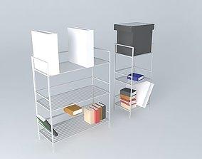contemporary 3D model Shelves