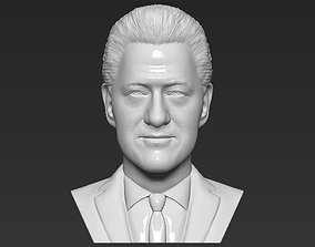 President Bill Clinton bust 3D printing ready stl obj
