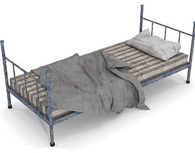 Old Dirty Single Bed 3D asset