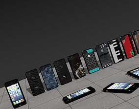 3D iPhone with 10 Backs Patterns