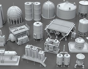Industrial Tanks - part - 1 - 20 pieces 3D