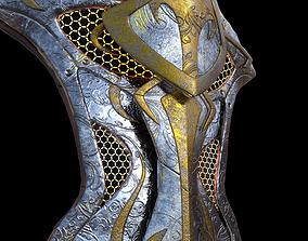 Fantasy shield 3D model game-ready