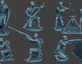 German soldiers ww2 G5 Pack1 3D model