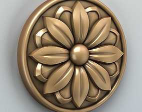 Round rosette 002 3D model