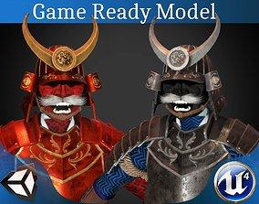 Samurai armor v2 3D asset