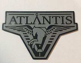 3D print model Stargate Atlantis Logo Coaster