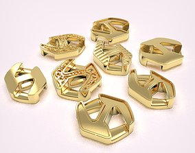 3D printable model Set of 8 and 10mm wide links and box