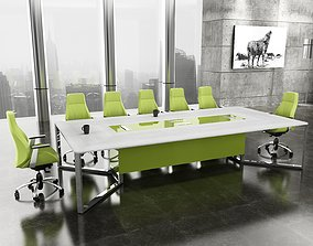 3D model modern meeting room
