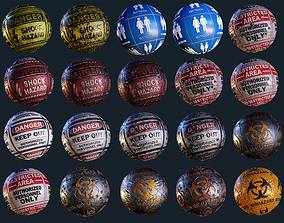 3D 20 Signage Seamless PBR Textures Pack