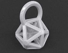 Icosahedron Frame Pendant 3D printable model