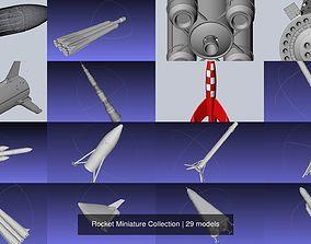 vehicles 3D Rocket Miniature Collection