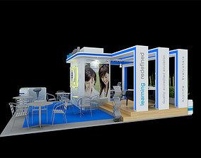 BerJaya Exhibition 6x7 Booth 3D model 3dexihibitionmodel